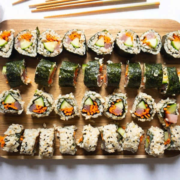 Photo of Brown rice sushi rolls with tuna by WW