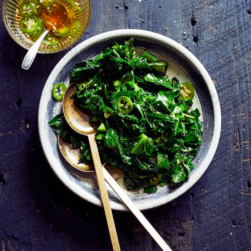 Photo of Grilled Collards with Hot Pepper Vinegar by WW