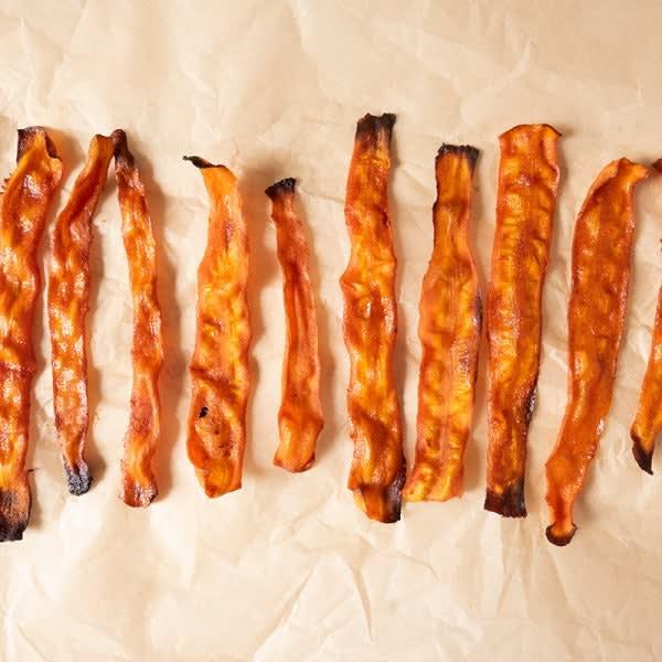 Photo de «Bacon» végétalien à base de carottes par WW