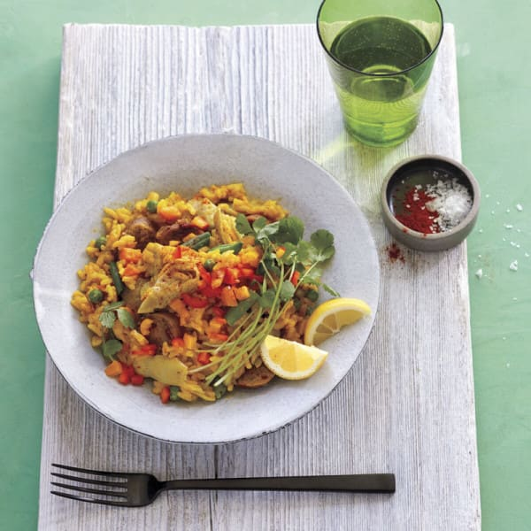 Photo of Artichoke and bell pepper paella by WW