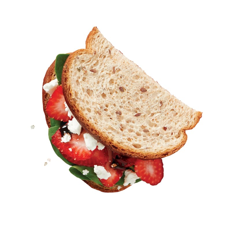 Photo of Spinach-strawberry and goat cheese sandwich by WW