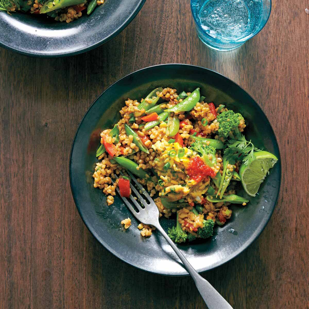Photo of Freekeh stir-fry bowls by WW