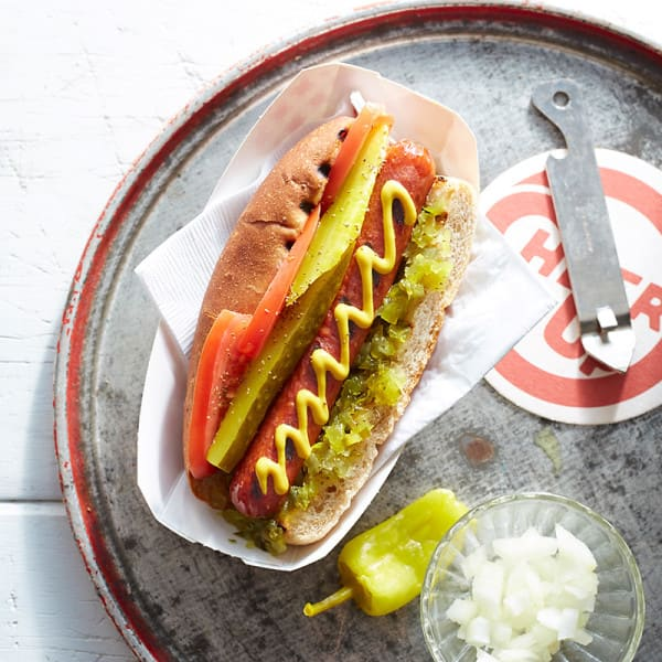 Photo of Chicago-style hot dogs by WW