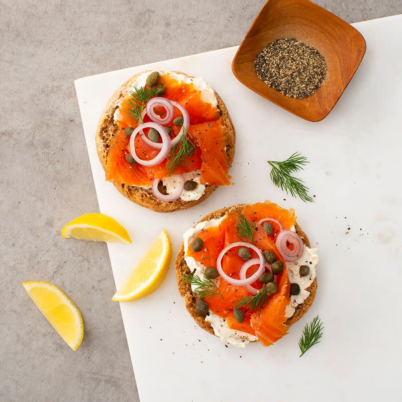 Photo of English muffin with lox by WW