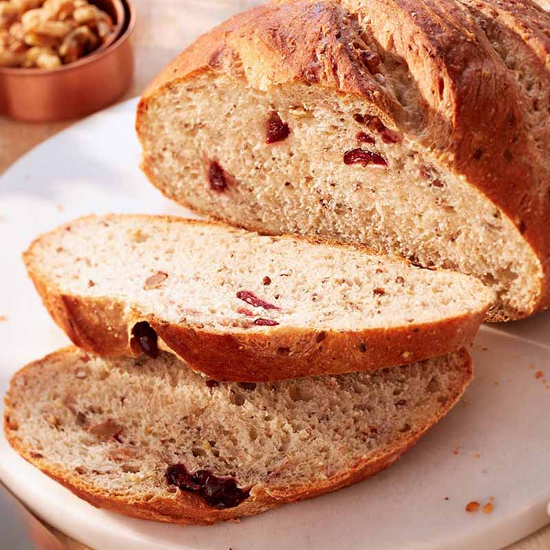 Photo of Cranberry walnut boule made with organic flour by WW