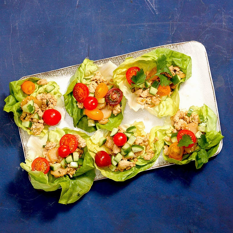 Photo of Asian-Style Chicken Lettuce Wraps by WW