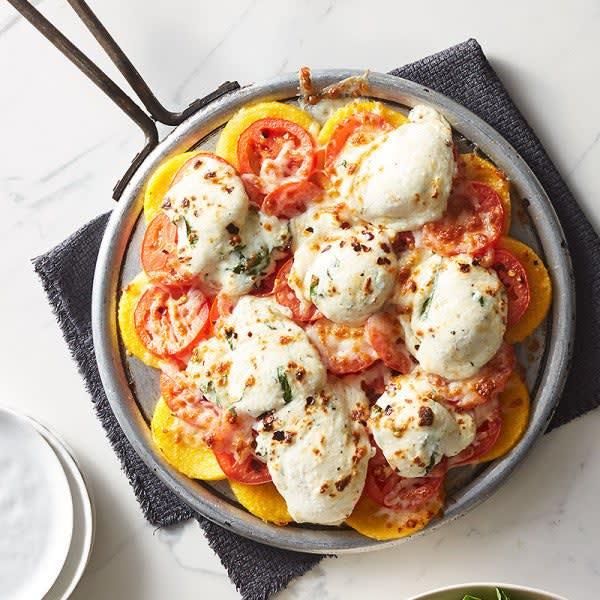 Photo de «Pizza» margherita sur polenta par WW