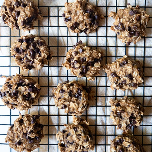 Photo of Peanut butter, banana, and chocolate chip breakfast cookies by WW