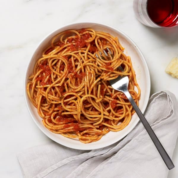 Photo of WW spaghetti with homemade tomato sauce by WW