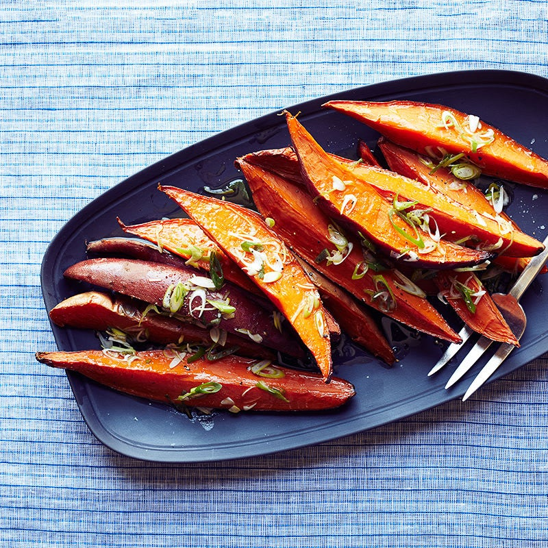 Photo of Smoked Sweet Potatoes with Scallion Dressing by WW
