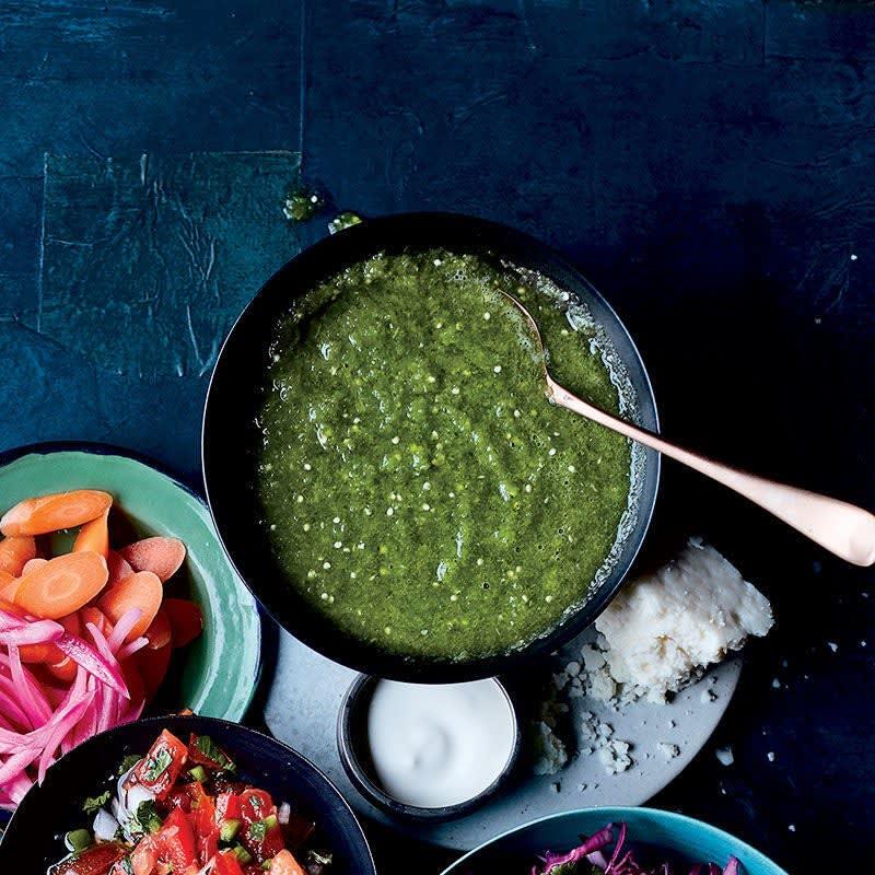 Photo de Salsa verde d'un vert éclatant par WW