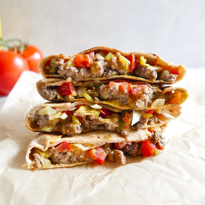 Photo of Cheeseburger crunch wrap by WW
