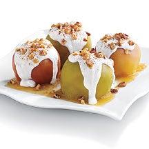 Photo of Twice baked apple with cinnamon-vanilla yogurt sauce by WW