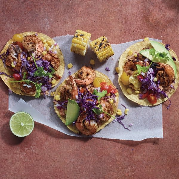 Photo of Grilled shrimp tostadas with corn salad by WW