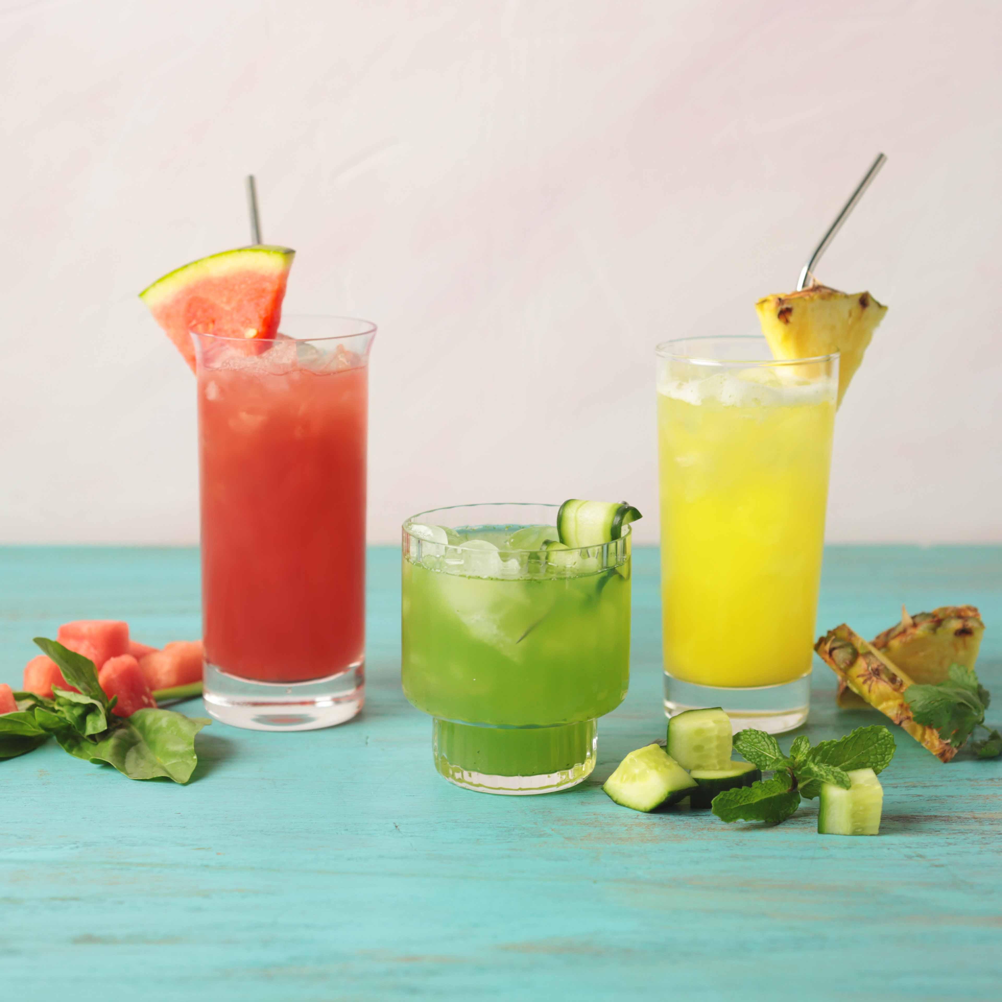 Photo of Aguas frescas three ways - pineapple cilantro by WW
