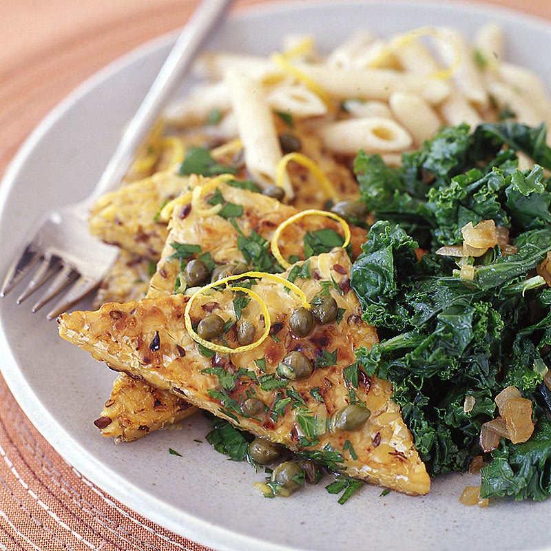 Photo of Tempeh Piccata with Kale and Whole-Wheat Spaghetti by WW