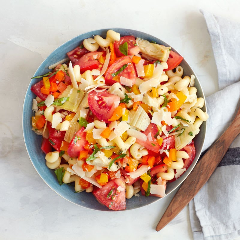 Photo of Italian pasta salad with tomatoes and artichoke hearts by WW