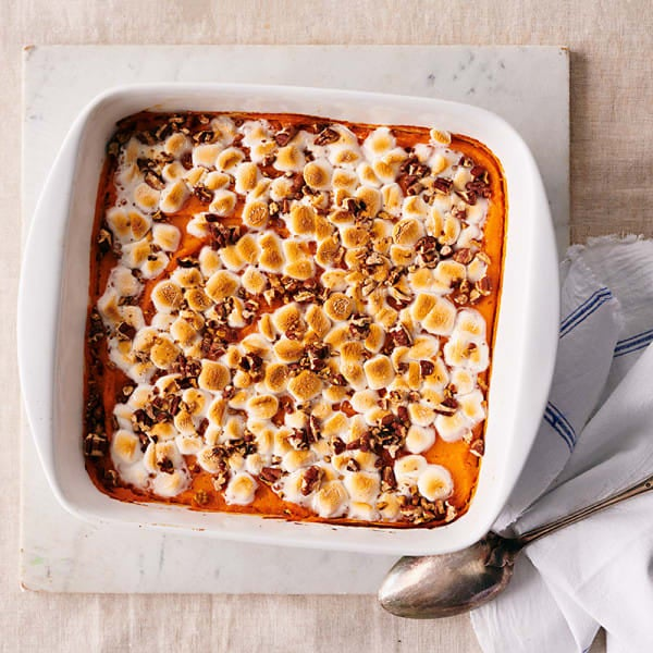 Photo of Sweet potato casserole with mini-marshmallows and pecan by WW