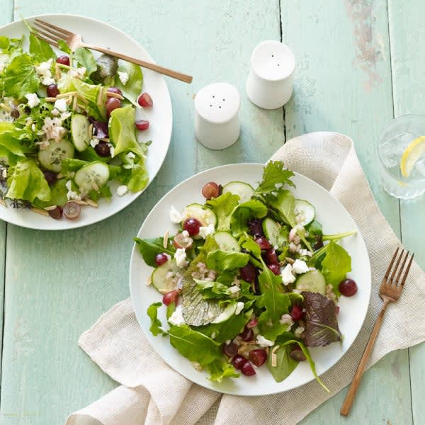 Photo of Mixed green, grape, and goat cheese salad with Champagne vinaigrette by WW