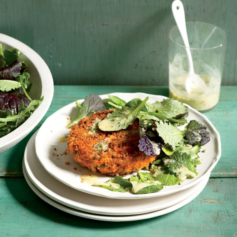 Photo of Salmon cakes with dijon-herb sauce by WW