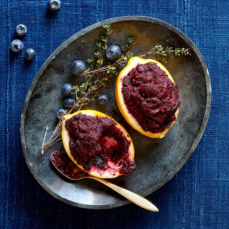 Photo of Blueberry-meyer lemon sorbet with thyme by WW