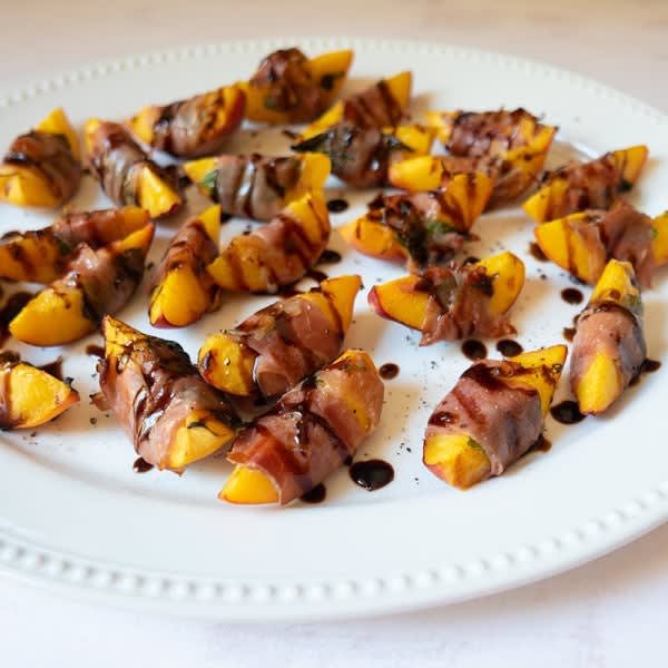 Photo of Prosciutto-wrapped grilled peaches by WW