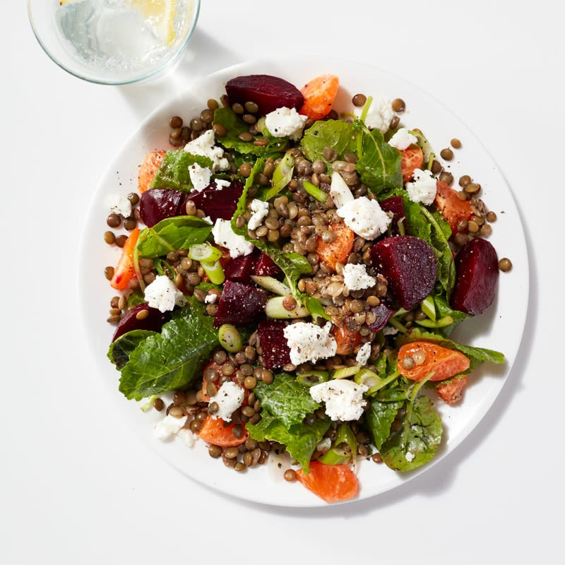 Photo of Lentil, beet, clementine, and kale salad by WW