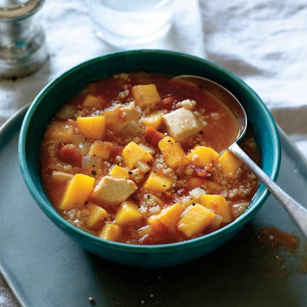 Photo de Soupe marocaine au poulet, aux légumes et au couscous par WW
