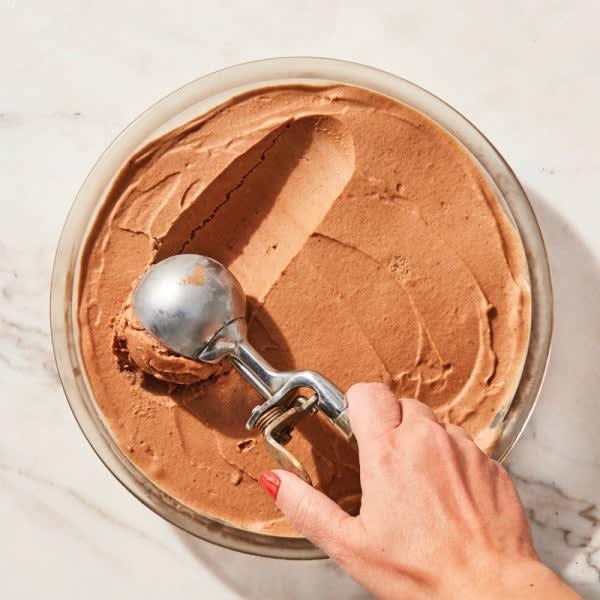 Photo de Crème glacée de banane au chocolat fumé et épicé par WW