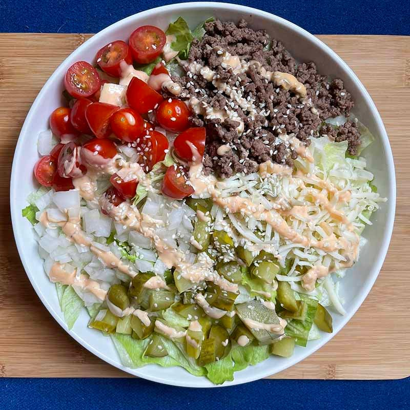 Photo of Big burger salad Created by Coach Emily by WW