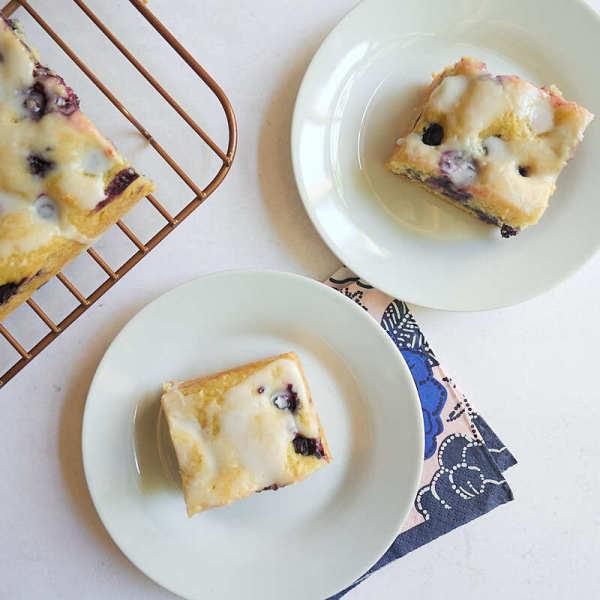 Photo of Lemon-glazed blueberry snack cake by WW