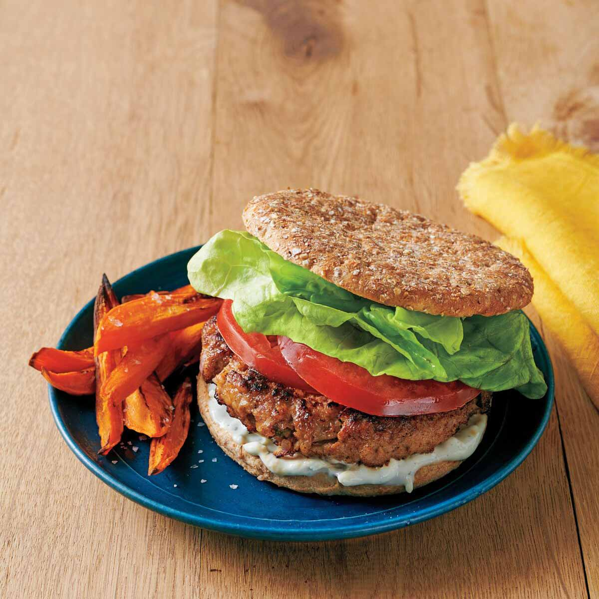 Photo of Sage and blue cheese chicken burgers by WW