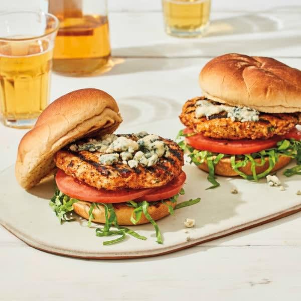 Photo de Burgers de poulet au fromage bleu par WW