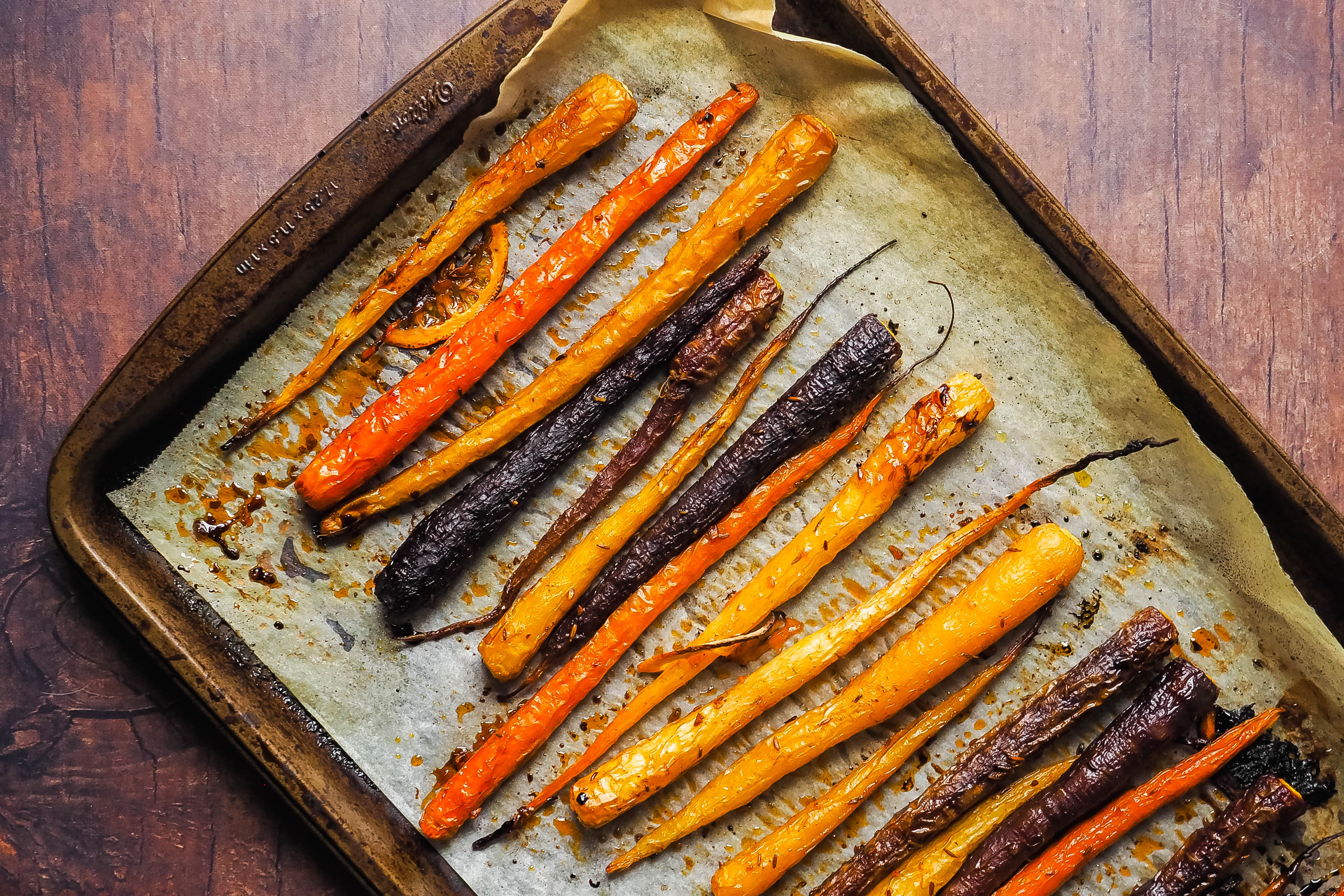 Photo of Harissa Glazed Carrots by Chef Tyler by WW