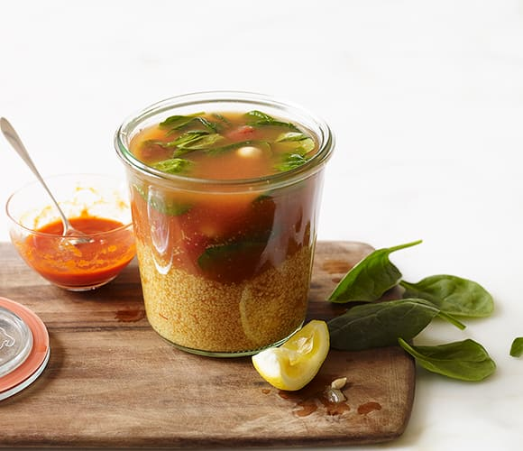 Photo of Instant Couscous-Chickpea Soup For One by WW