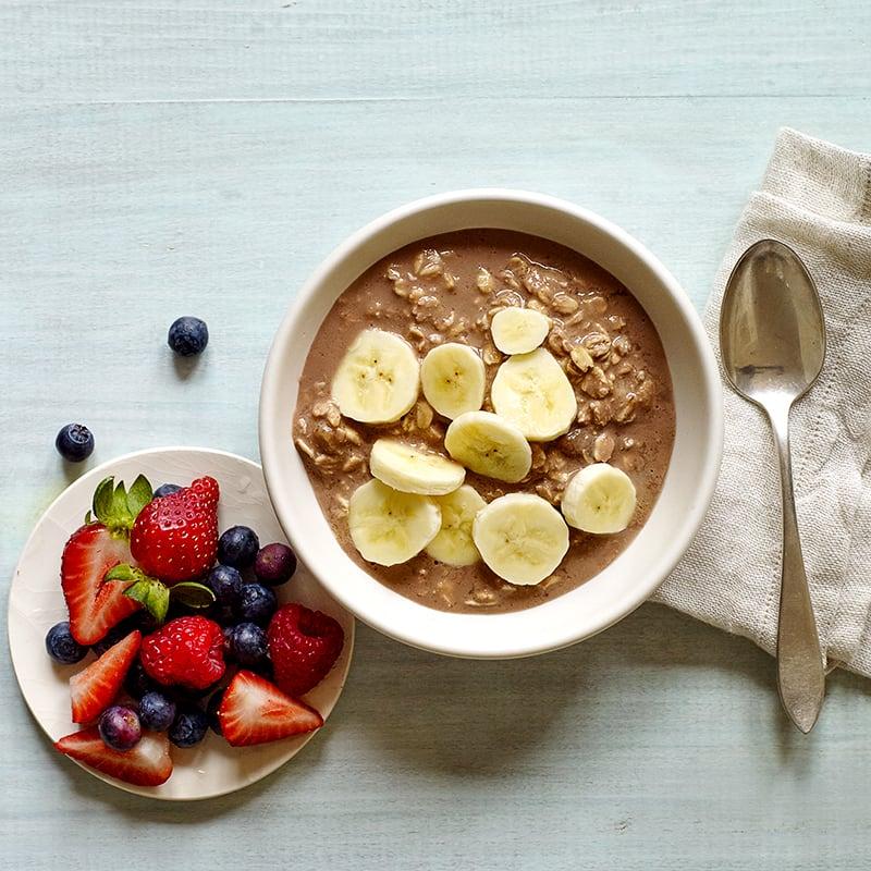 Photo of Chocolate peanut butter-banana overnight oats by WW