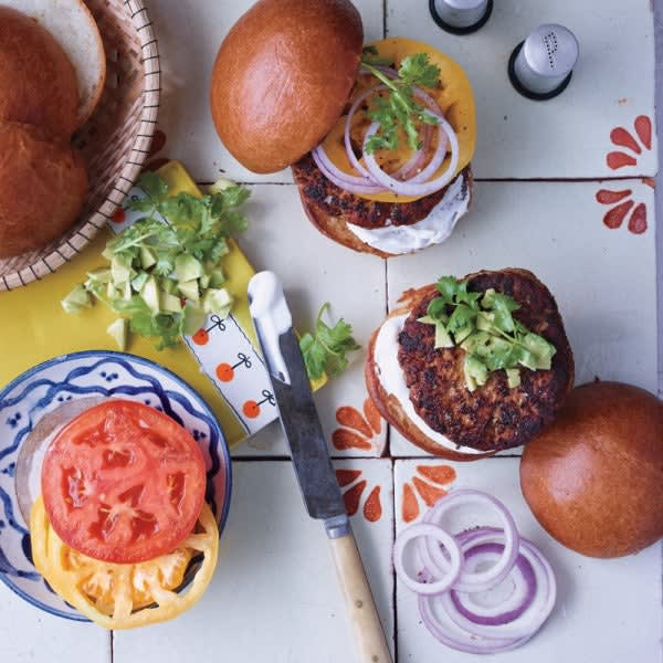 Photo of Chipotle turkey burgers with avocado by WW