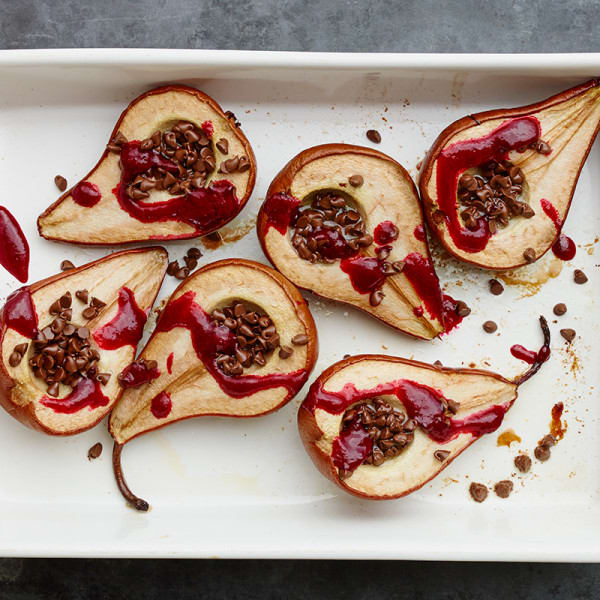 Photo of Baked pears with chocolate and raspberry sauce by WW