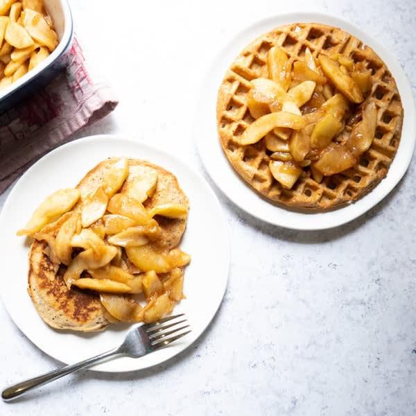 Photo de Tranches de pommes à la cannelle cuites au four par WW
