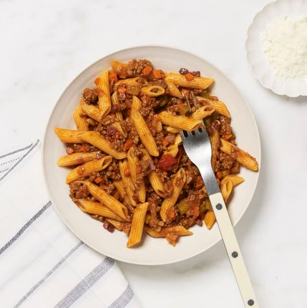Photo of WW penne with homemade Bolognese sauce by WW