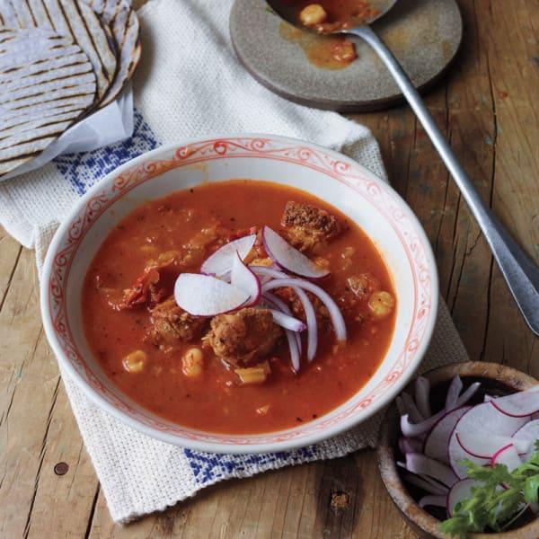 Photo de Ragoût de chili rouge avec poulet et semoule de maïs par WW