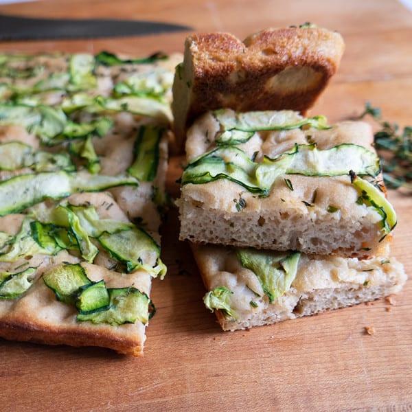 Photo of No-knead zucchini-herb focaccia by WW