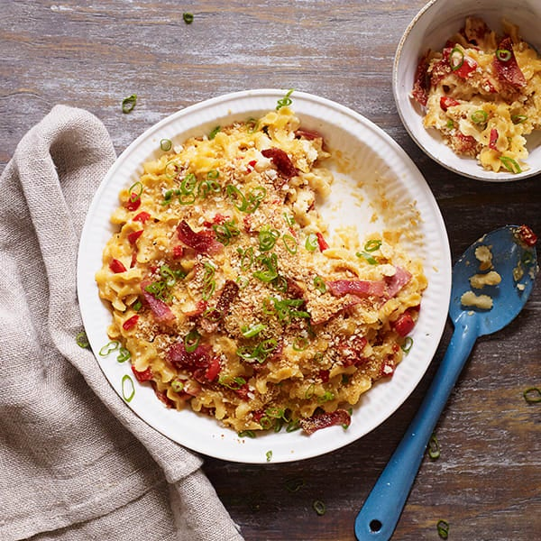 Photo of Bacon and sharp cheddar macaroni and cheese by WW