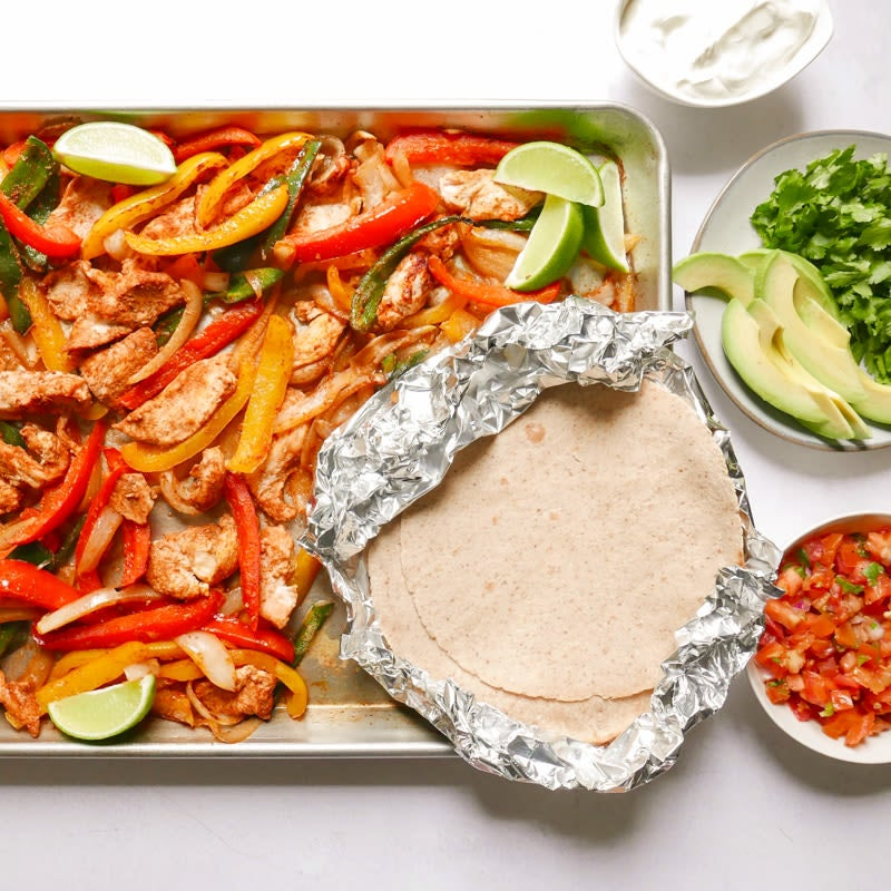 Photo of Sheet pan chicken fajitas with the works by WW