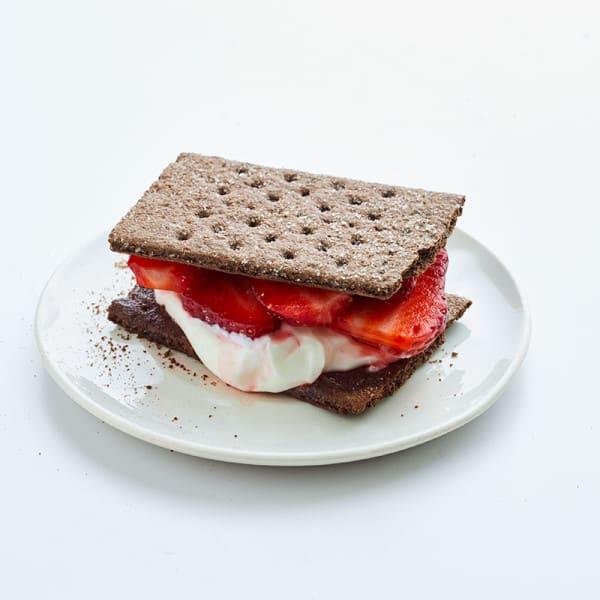 Photo of Strawberries & cream chocolate cookie sandwich by WW
