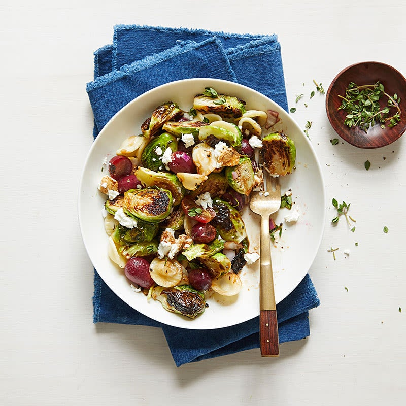 Photo of Orecchiette with Roasted Brussels Sprouts & Grapes by WW