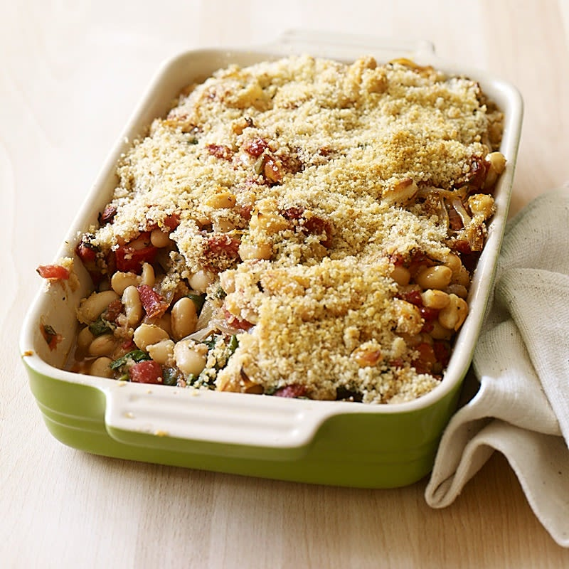 Photo of White Bean, Tomato, and Spinach Gratin by WW