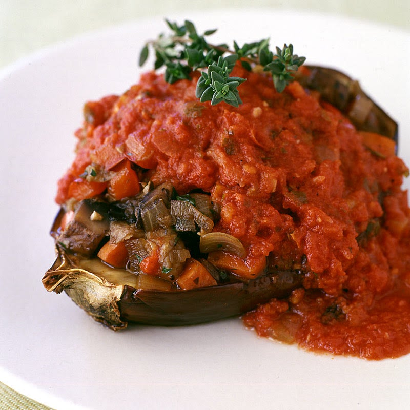 Photo of Roasted and Stuffed Smothered Eggplant (Freezer-friendly) by WW