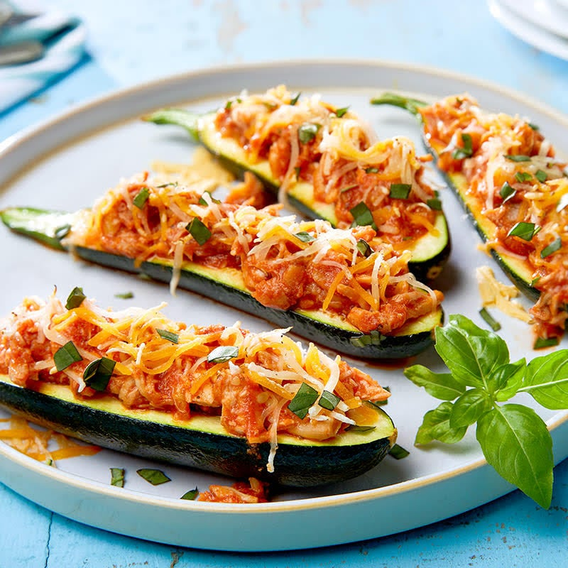 Photo de Courgettes farcies de poulet par WW