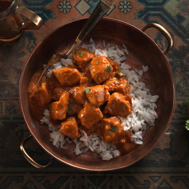 Photo of No-butter chicken with jasmine rice by WW